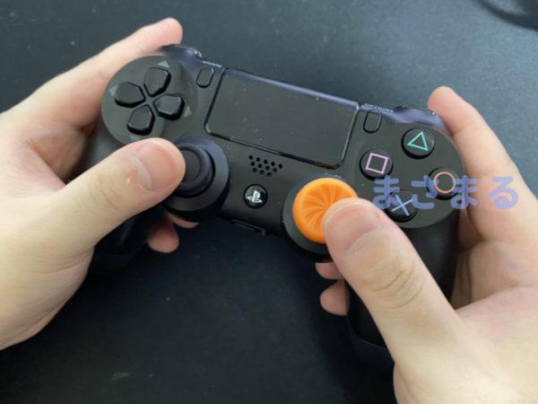 実際にエイムリングを付けてコントローラーでプレイ